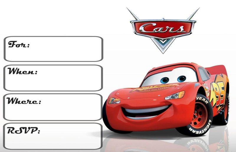 Cars Invitations Free