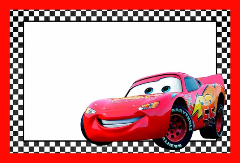 Cars Lightning McQueen Printable Template Free Invitation