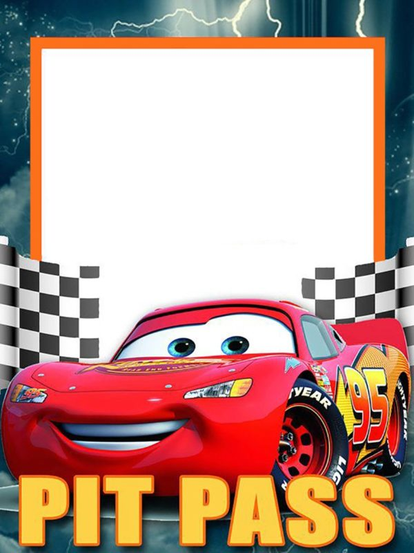 Lightning McQueen Invitation Template Free | Free ...