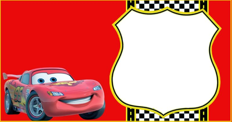 Lightning McQueen Invitation Template - Free Printable ...