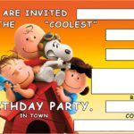 Peanuts Movie Invitation Sample