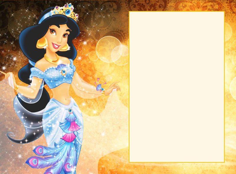 Printable Jasmine Birthday Invitations ~ Latest of princess jasmine birthday invitations free printable
