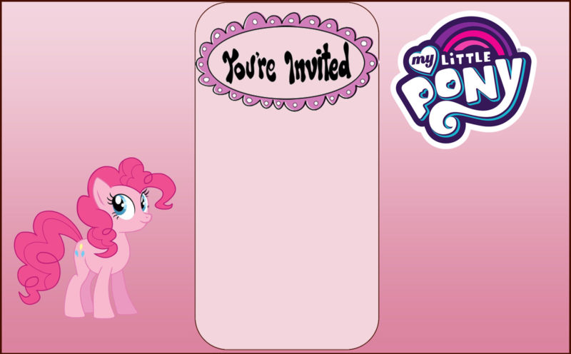 Free My Little Pony Invitation Card