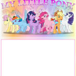Printable My Little Pony Template 150x150