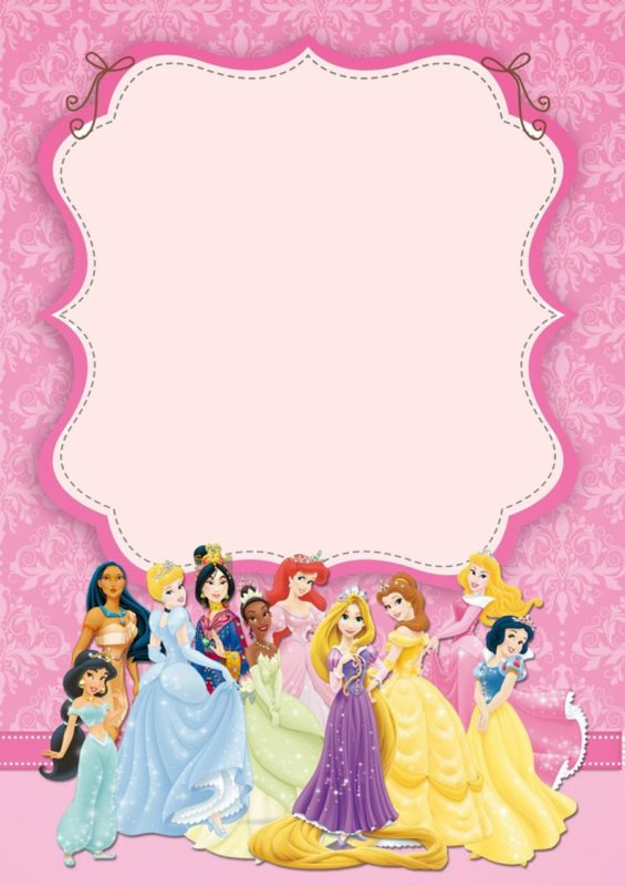 Disney Princesses Birthday Invitation Template Free Printable