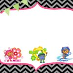 Free Birthday Party Team Umizoomi invitation template 150x150