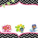 Free Birthday Party Team Umizoomi invitation template