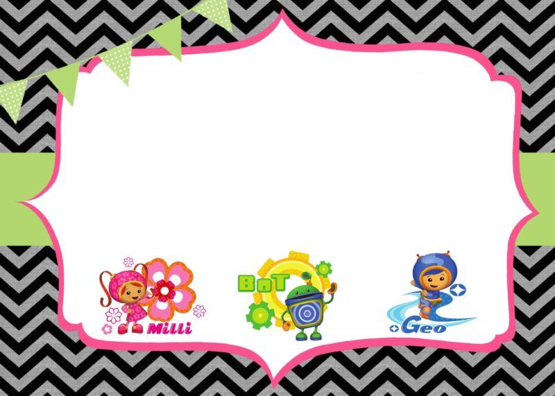 Free Birthday Party Team Umizoomi invitation template