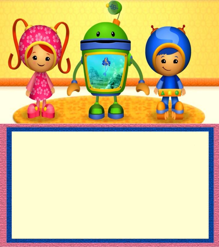 Free Team Umizoomi invitation Template