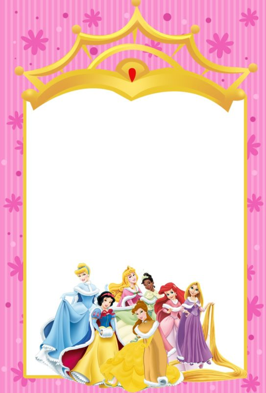 Free Templates for Princess Party Invitation Cards – Disney Princess Party Invitations Printable