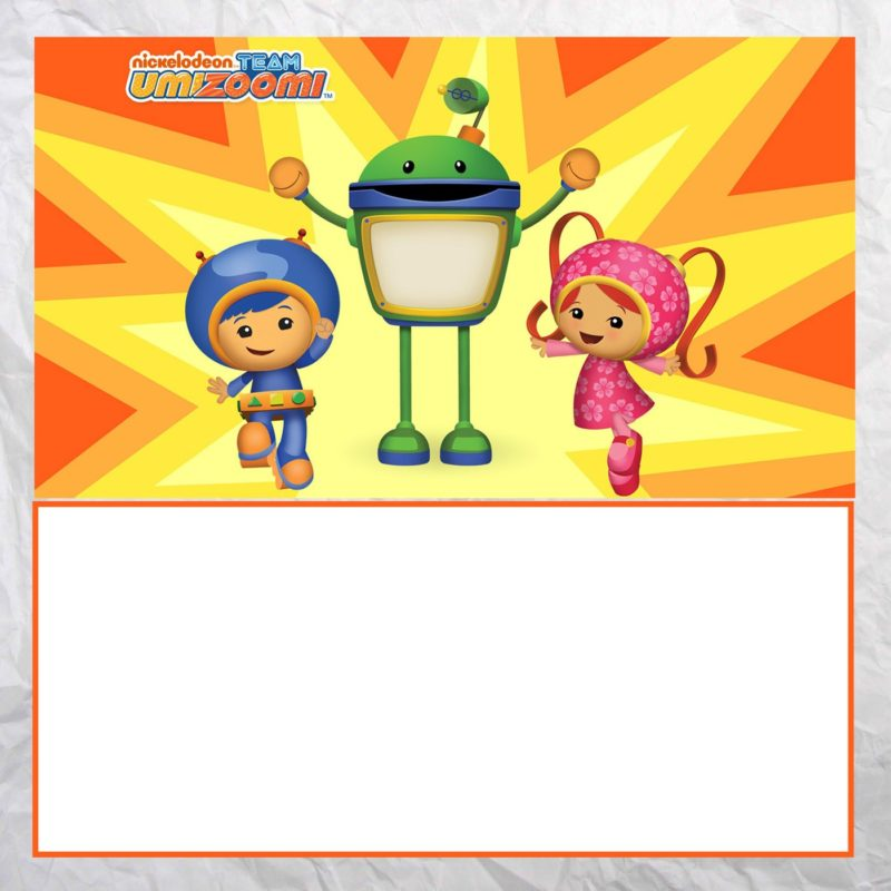 Printable Team Umizoomi invitation