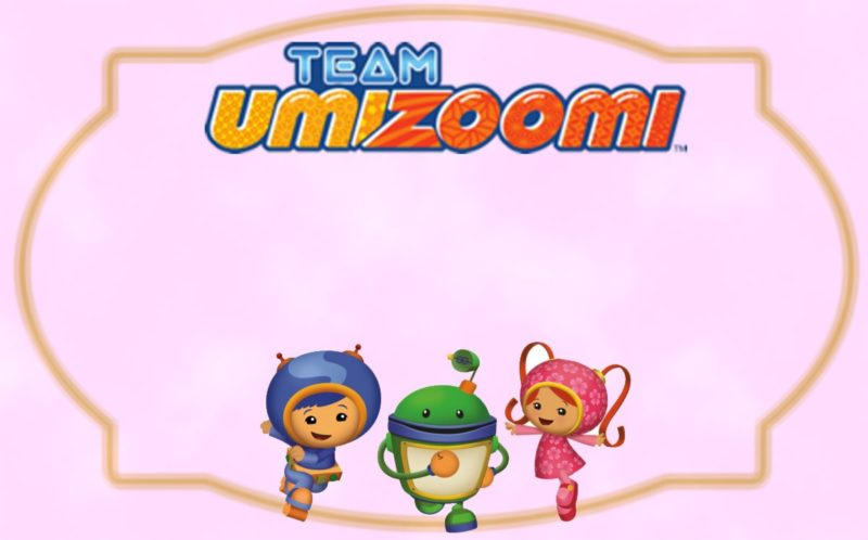 Team Umizoomi birthday party invite