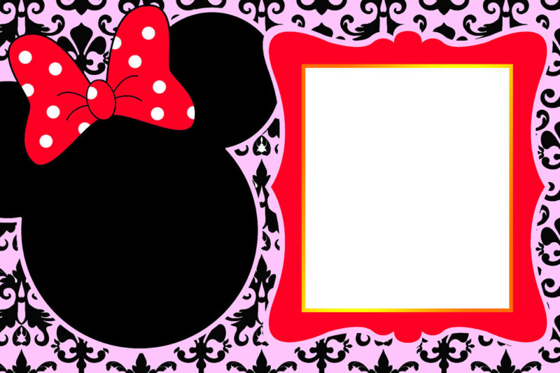 The largest collection of FREE Minnie Mouse Invitation Templates ...