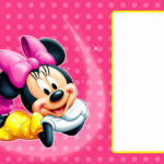 Editable Minnie Mouse Birthday Invitation