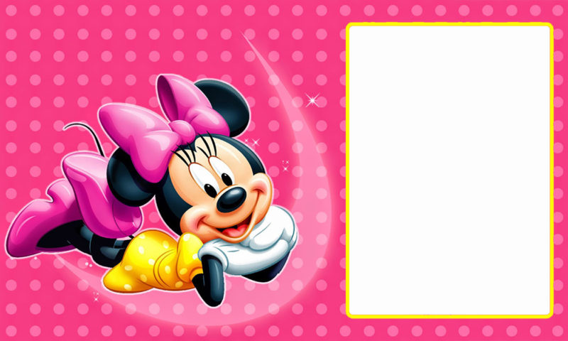 Editable Minnie Mouse Birthday Invitation