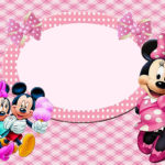 Editable Minnie Mouse Invitation Card 150x150