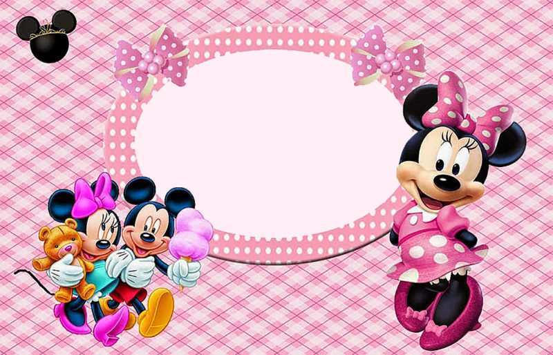 Editable Minnie Mouse Invitation Card