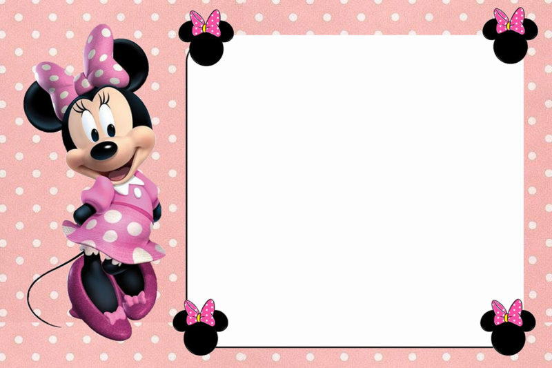 Free-Online-Minnie-Mouse-Invitation-Template Customized Minnie Mouse Baby Shower Invitations