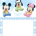 Free Printable Disney Baby Invitation Template 150x150