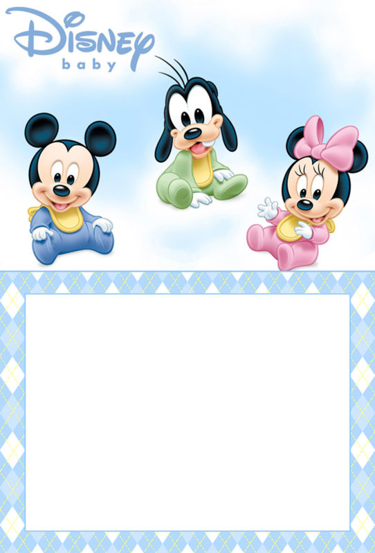 Free Printable Disney Baby Invitation Template