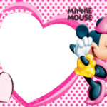Love Minnie Mouse Invitation Template 150x150