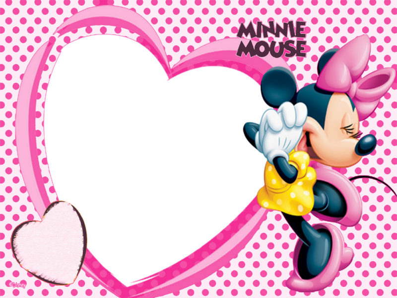 Love Minnie Mouse Invitation Template