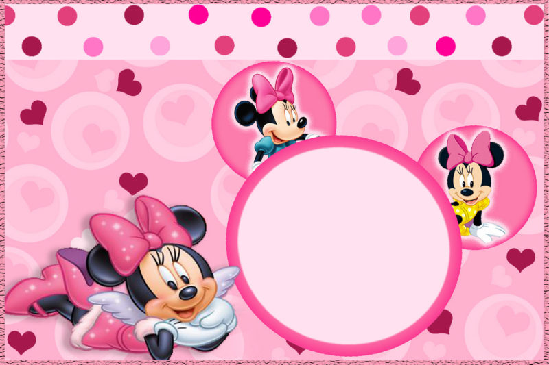 Minnie Cute Pink Invitation