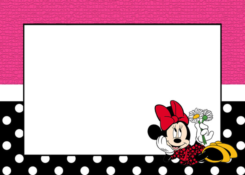 Minnie Invitation Template