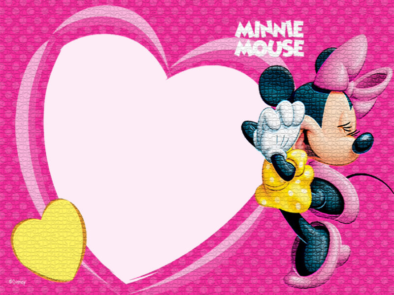 Minnie Mouse Heart Invitation