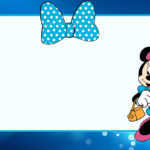 Minnie Mouse Invitation Card Blue 150x150