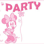 Minnie Mouse Party Invitation Template 150x150