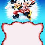 Minnie and Mickey Mouse Birthday Invitation