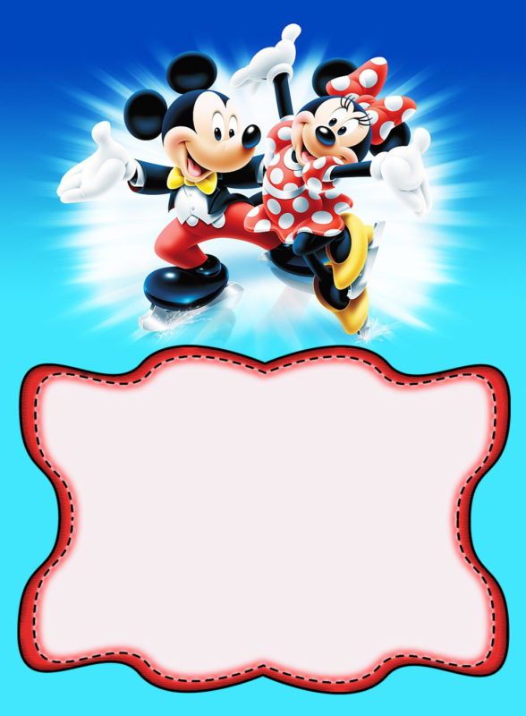 Minnie And Mickey Mouse Birthday Invitation