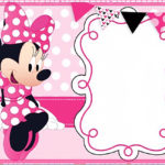 Printable Minnie Mouse Birthday Party Invitation Template 150x150