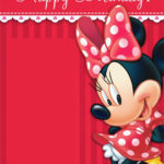 Printable Minnie Mouse Party Invitation Template
