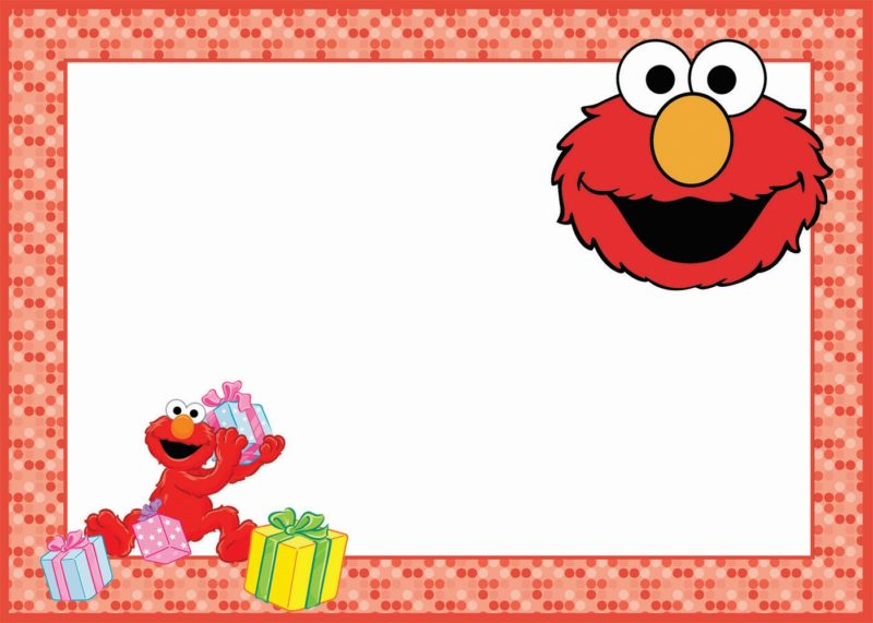 elmo template for invitations - elmo birthday party invitation card free printable