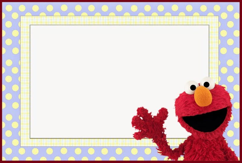 Elmo Free Invitation Template