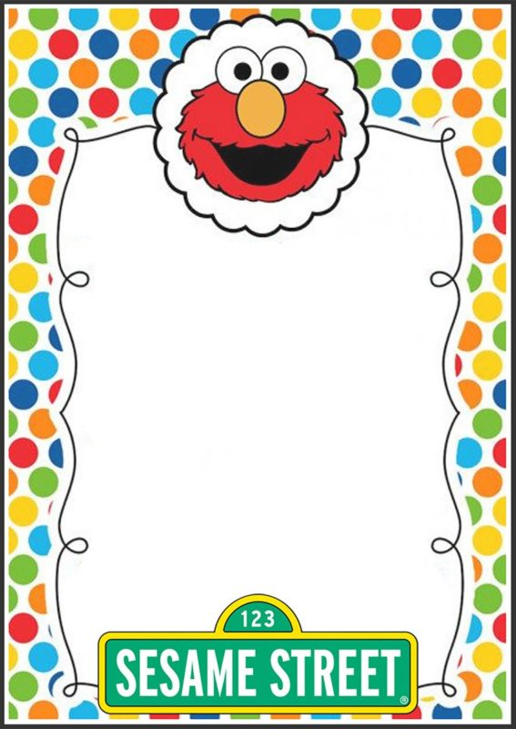Elmo Party Invitation Template