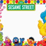 Elmo and Sesame street Birthday Party Invitation 150x150