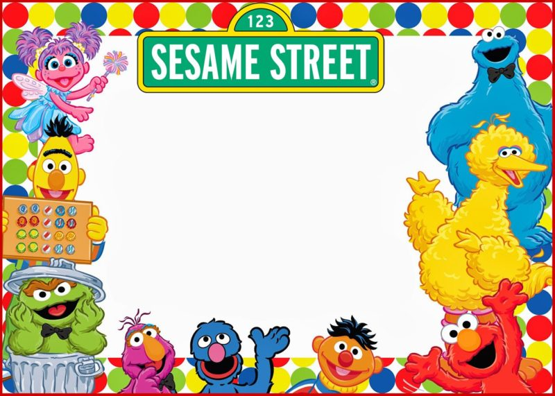 Elmo and Sesame street Birthday Party Invitation