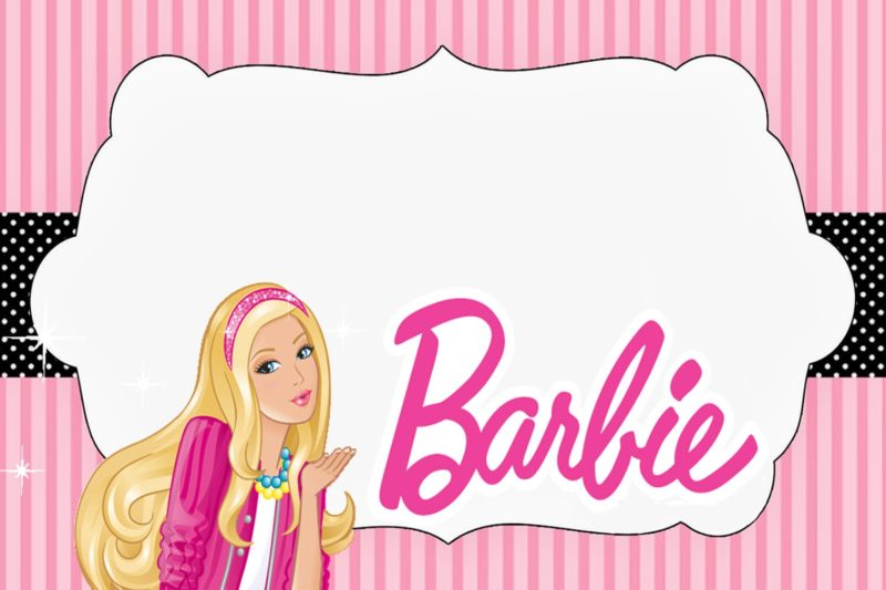 Free Barbie Doll Invitation Card