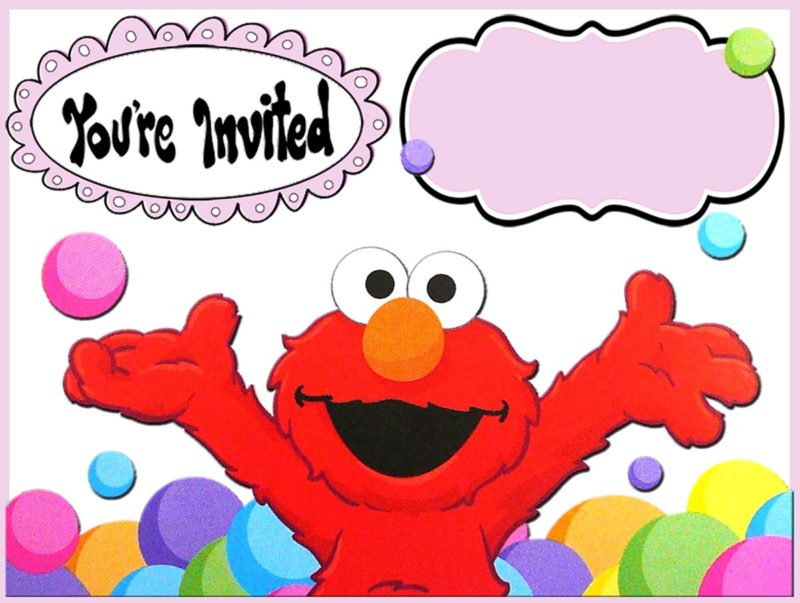 Free Online Elmo Invitation Template