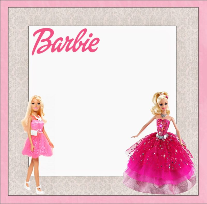 Free Printable Barbie Birthday Invitation Template