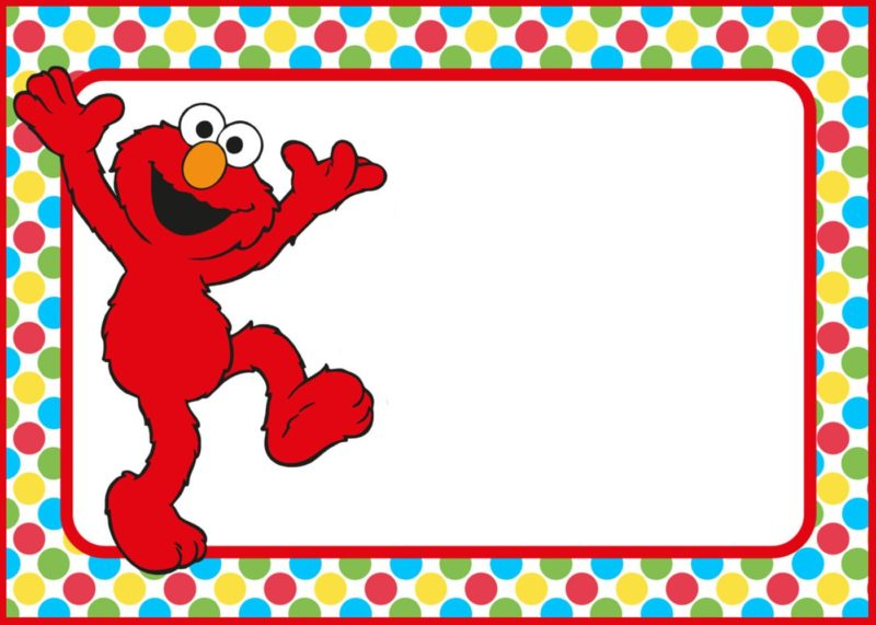 Free Printable Elmo Party Invitation Template - Free Printable ...