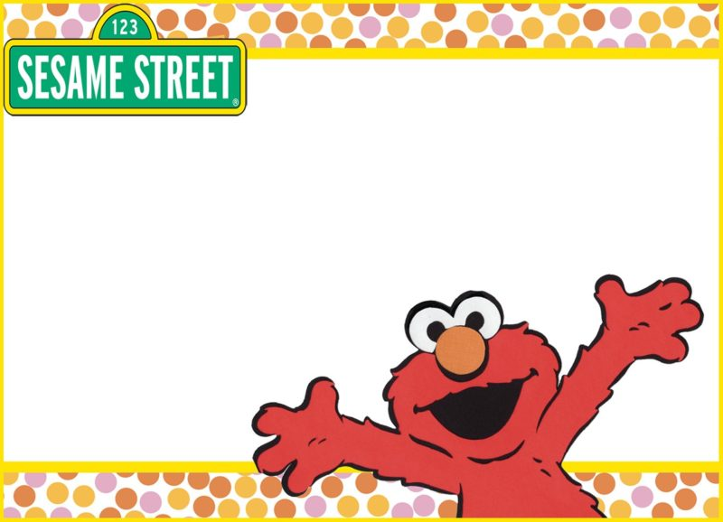 Printable Elmo Invitation Card