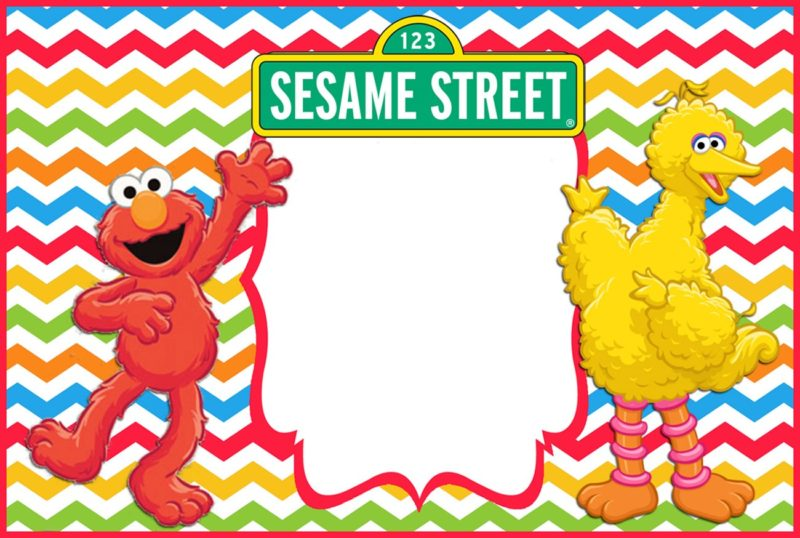 Sesame Street Elmo Birthday Invitation Template - Free Printable ...