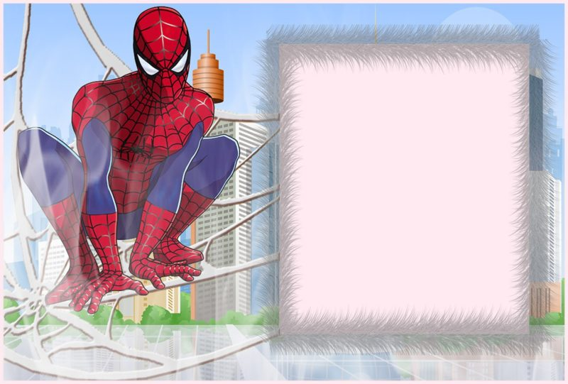 Custom Spiderman Invitation
