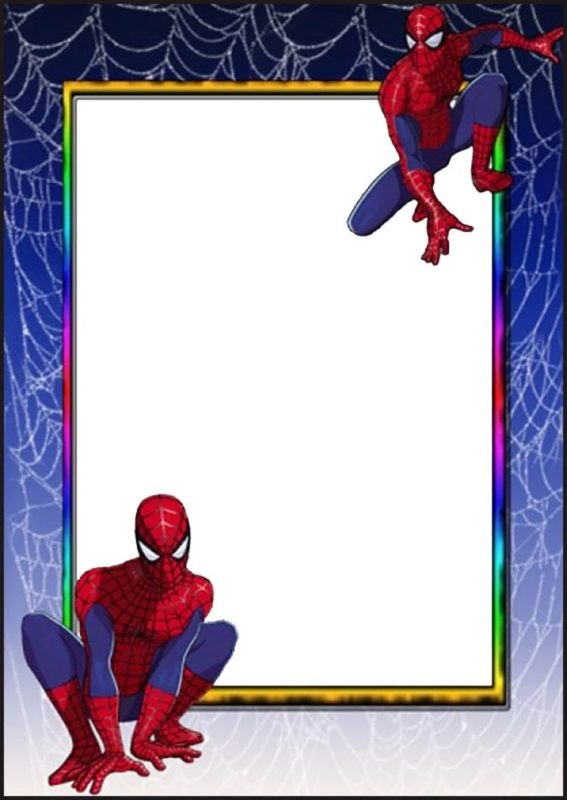 Spiderman Invitation Card