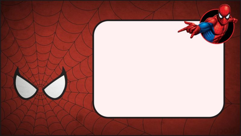 Spiderman Invitation Template