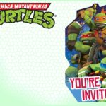 Editable Ninja Turtle Invitation Template 150x150